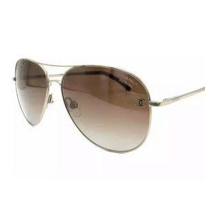 Chanel 4189TQ 395/S9 Matte Gold / Brown Sunglasses